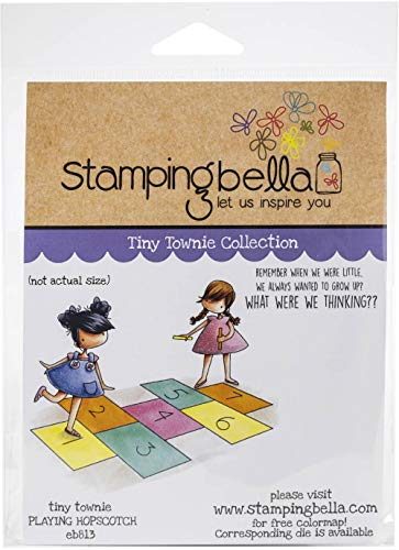 Stamping Bella Cling Stamps-Tiny Townies Playing Hopscotch