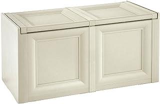 Tontarelli 8086012210 Omnimodus-Baúl de almacenaje (86,5 x 40 x 44cm), Color Crema, Resina, Angora, 2 módulos