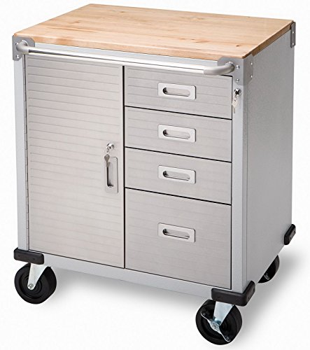 Seville Classics UltraHD Rolling Storage Cabinet with Drawers (UHD20205B)