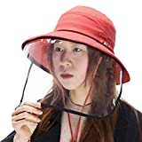 Comhats Beach Womens Bucket Hat Face Shield Safety Sun UV Protection Fishing Hunting Packable Ladies Black