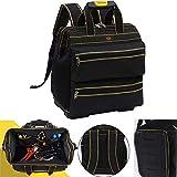 Werkzeugrucksack Werkzeugtasche, wasserdichte Werkzeugtasche, Multifunktionswerkzeug Einkaufstasche, Elektriker Werkzeugtasche mit Kunststoffboden und verstellbarem Schultergurt