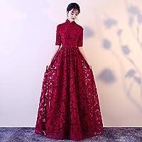 ドレス パーティードレス ウェディングドレス カラードレス ステージドレス Aライン マーメイド レディース aruka_pierret XXL レッド