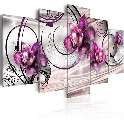 murando - Cuadro en Lienzo 200x100 cm Flores Impresión de 5 Piezas Material Tejido no Tejido Impresión Artística Imagen Gráfica Decoracion de Pared 020110-147