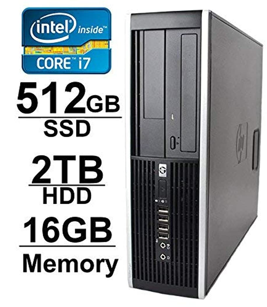 信仰哲学博士特許HP 8100 i7 Workstation Desktop Computer (Core i7 2.8GHz up to 3.46GHz 2TB HDD 512GB SSD 16GB RAM WIFI 1GB Video Card with HDMI Windows 7 Pro 64-Bit) (Certified Refurbished) [並行輸入品]