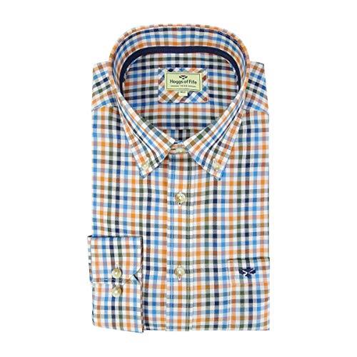 Hoggs of Fife Dundas Oxford Shirt Rust Check