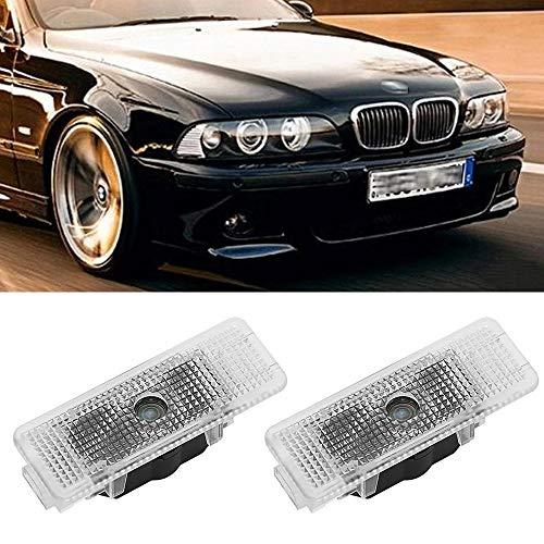 Luz de bienvenida de la puerta del coche 4 PCS Logotipo de la puerta del automóvil Lámpara de proyector LED LED compatible con BMW E39 X5 E53 E52 528i Auto Emblem Ghost Shadow Luces accessorie Lámpara