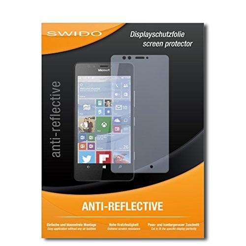 SWIDO Bildschirmschutz für Microsoft Lumia 950 [4 Stück] Anti-Reflex MATT Entspiegelnd, Hoher Festigkeitgrad, Schutz vor Kratzer/Glasfolie, Schutzfolie, Bildschirmschutzfolie, Panzerglas Folie