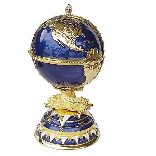 WMYATING El joyero Tiene una Forma novedosa y única, un DIS Caja de joyería Huevo Trinket Caja Artesanal joyería de Metal Caja de Anillo Bejeweled joyería cumpleaños Regalos coleccionables