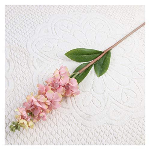Zxebhsm Künstliche Blumen 80cm Künstliche Blumen Delphinium Gefälschte Violet DIY Orchidee Blumen Gefälschte Blumen Bouquet Anordnung Hochzeit Wohnkultur Herbst (Farbe : Rot)