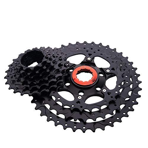 9 Speed ??Cassette, Bicicletas Piezas, 40t Montaña De La Bicicleta De Casete para Bicicletas De Montaña Ciclismo De Reemplazo De Accesorios Negro