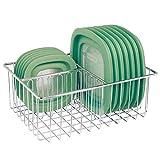 mDesign Organizador de tapaderas – Práctica cesta de almacenaje con 3...