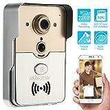 KKmoon HD 720P Campanello P2P WIFI Videocitofono Citofono Visivo Remote Unlock di Sostegno TF...