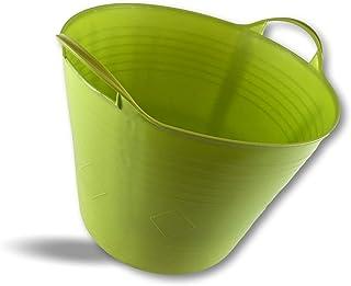 Seau bassine panier souple | Ø40-25 litres - Couleur | Lot de 6 | Récipient multifonction polyéthylène plastique flexible ...