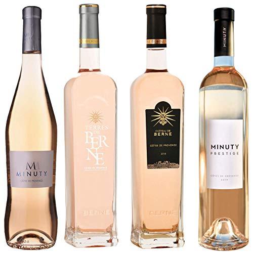 Best of Provence - Lot de 4 bouteilles - Minuty : Prestige/M - Berne : Terre/Château - Côtes de Provence Rosé 2019 (4 * 75cl)