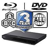 Image of Sony UBP-X500.CEK MULTIREGION 4K Ultra HD Blu-ray ICOS Multi Region All Zone Code Free Blu-ray Player. Blu-ray zones A, B and C, DVD regions 1-8