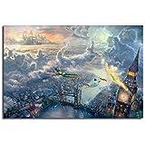 WJY Wunderbare Fee Und Peter Pan Fliegen Nach Neverland Von