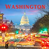 Washington 2022 calendar: 18 Months Calendar 2022-2023 For Women, Men, Kids & Washington Lovers ,Size 8.5 x 8.5 Inch, Large box for record dates and special events