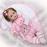 XYSQWZ Reborn Baby Doll Realista Silicona Vinilo Bebé 50cm 20 Pulgadas Muñeca Realista Regalo Chupete Magnético Biberón Manta Set 1214