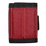 Anva Magnetic Wristband Tool Holder Bag for Holding Tools, Screws, Nails, Bolts, Drilling Bits, Screwdriver Bits and More (RED)
