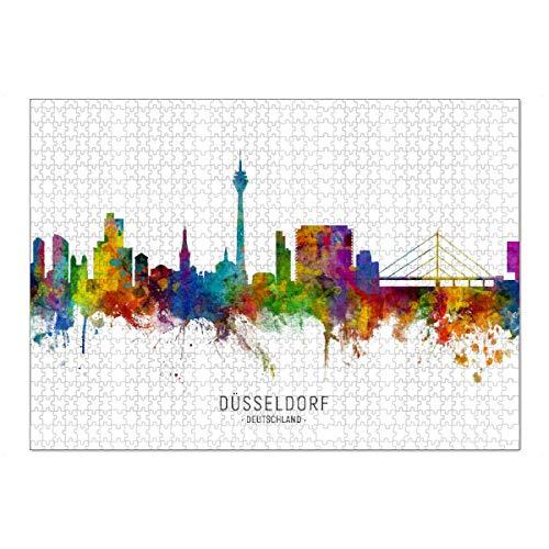 artboxONE Ravensburger-Puzzle XL (1000 Teile) Städte / Düsseldorf Düsseldorf Germany Skyline txt