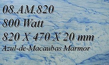 Calefacción por infrarrojos–Calefactor de infrarrojos eléctrico (mármol Magma Calefacción 800W 08. AM.820r con termostato con 2luces de control, interruptor y ajuste de temperatura Control