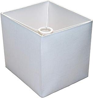 Abażur 240X280X250 mm podstawa x wysokość   Bawełna o grubych, ozdobnych włóknach   Kolor biały   Prostopadłościan   Pod o...