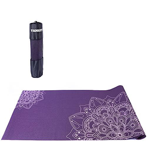 Tapete Yoga Mat Pilates PVC Ecológico 5mm Mandala Yangfit
