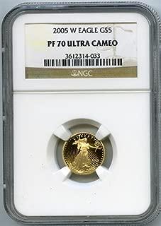 2005 W Gold Eagles Five Dollar NGC PR-70