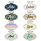 Nombres personalizados en madera • Nombre Personalizado para pared, Nombres para bebés, Regalo personalizado • 25 cm | 35 cm | REPOSICIONABLE HASTA 10 VECES