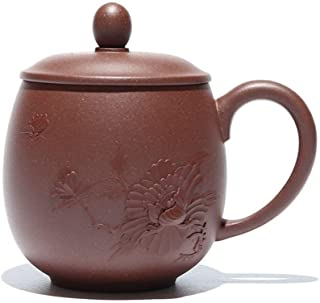 Tekanna japansk stil, Presentkort Lila Clay Tea Cup Cup Lock Te Cup Lila Peony Girls Cup Färg: Magnolia Cup, Storlek: Lila...