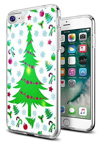Christmas Snow Case for iPhone 8/7,Gifun Anti-Slide Clear TPU Flexible Protective Case Cover Compatible with iPhone 8/7 - Christmas Tree for Christmas