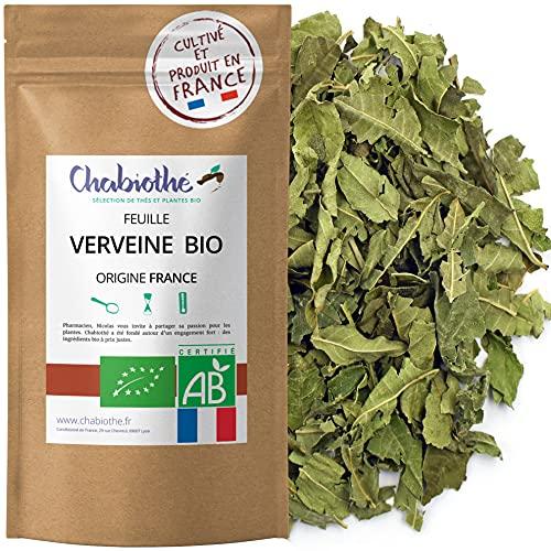 Chabiothé - Verveine Bio - origine France - feuilles coupées 80g - sachet biodégradable