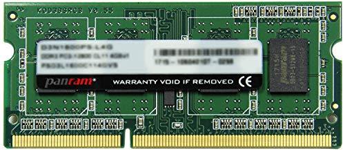CFD販売 ノートPC用 メモリ PC-12800(DDR3-1600) 4GB×1枚 1.5V対応 204pin SO-DIMM (無期限保証)(Panram)D3N1600PS-4G