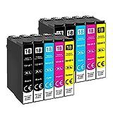 Tinnee 10 Pack Cartuccia 18xl (non originale), sostituzione per cartucce d'inchiostro Epso...