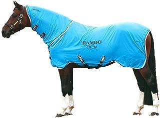 Horseware Rambo, Supreme Dry with Neck Cooler Sheet, Blue/Black/White, Large