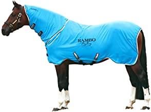Horseware Rambo, Supreme Dry with Neck Cooler Sheet, Blue/Black/White, Large