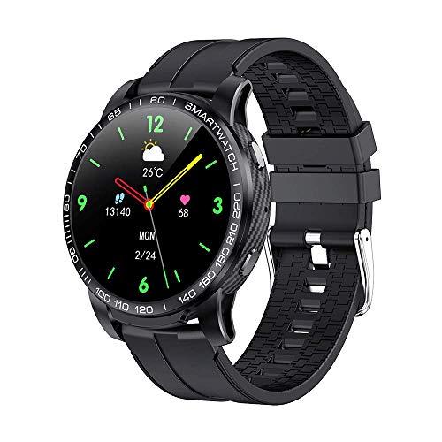 Reloj inteligente, pulsera inteligente silicona con pantalla táctil de 1,3 pulgadas, monitorización del sueño, recordatorio mensajes, contador de pasos del ejercicio,resistente al agua inalámbrico 5,0