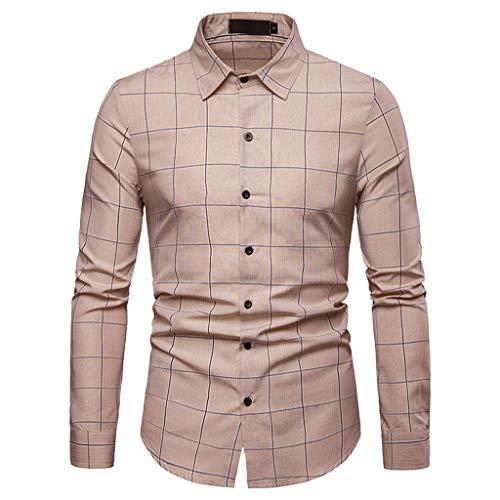 WINJIN Chemise pour Homme Chemises Casual Haut Homme Top Blouse Sans Repassage Tee Shirt Imprimé à Carreaux T-Shirt Grande taille Chemises Business Chemises Homme Slim Fit T-Shirt Basique Blouse Homme