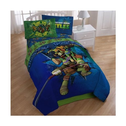 Ninja Turtle Twin Pillow Case and Comforter