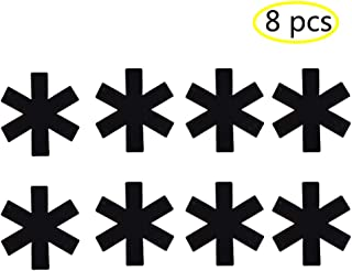 Antideslizante almohadillas para orejas De Olla y Sartén Pan Protector Pads, bote antideslizante y divisor/Separador, Negro