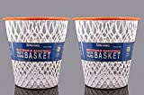 "Basketball Net ""Crunch Time"" NBA Design Wastebasket White 2-Pack"