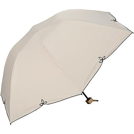 ワールドパーティー(Wpc.) 日傘 折りたたみ傘 ベージュ 55cm レディース 傘袋付き 遮光バードケイジ ワイドスカラップ ミニ 801-656 BE