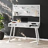 Techni Mobili RTA-4820D-WHT Home Office Desk, White