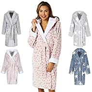 luxuriously soft: our womens robe with a small star print design & hood is manufactured using our luxuriously soft blend of the finest polyester fleece material available which provides supreme levels of super soft comfort and cosiness. sumptuous war...