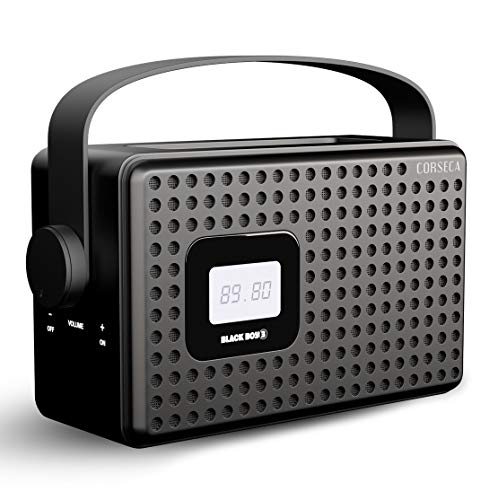 Corseca Black Boy 3 Premium Wireless Bluetooth Speaker with FM Radio Customizable Alarm AUX and USB Port (Black)