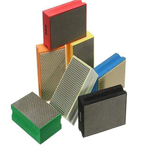 Sanding Blocks Polishing Grinding Block Diamond Polishing Hand Pads Block For Granite Marble Glass Grinding 60-3000Grit (60 Grit)