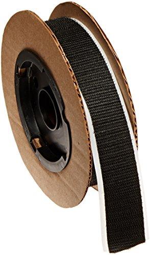 "VELCRO 3804-SAT-PSA/H Black Woven Nylon Hook 88, 0132 Adhesive Backed, 1"" Wide, 10' Length"