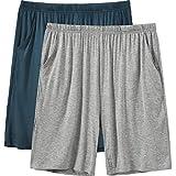 JINSHI Pantaloni Corti Pigiama da Uomo Morbide Modal Shorts da Salotto Biancheria da Notte...