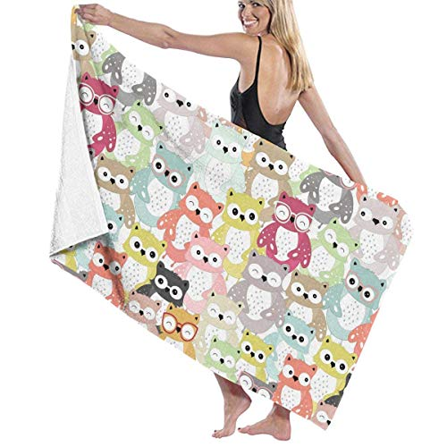 ZYWL African Animal Leopard Absorbent Beach Towels Oversized Blanket for Gym Yoga Pool Bath Spa