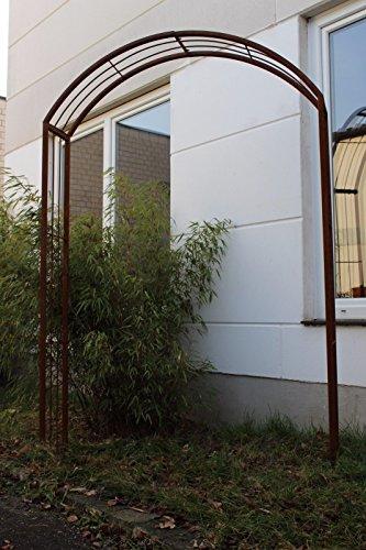 Zen Man Garten Rosenbogen Rost Metall Gartendeko Garten Rankhilfe Spalier Rost Rosenranke 031787-2 150 * 30 * 220cm